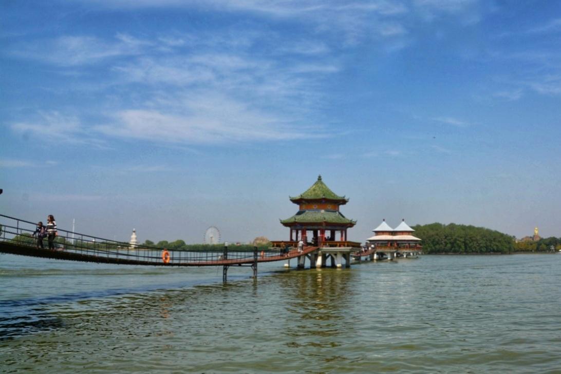全国第一个农民公园——八里河风景区_淮南图片网